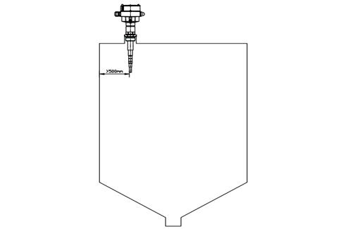 缆绳型射频导纳料位开关安装图及安装注意事项