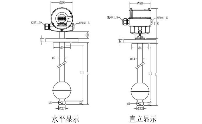 浮球液位计有哪些规格和参数